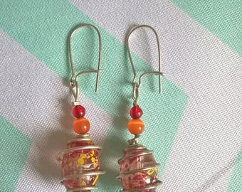 Earrings orange and spring