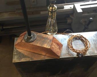 Steampunk  rustic lamp