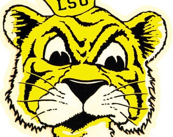 Vintage Style Louisiana State University LSU Tigers Souvenir Travel Decal sticker college