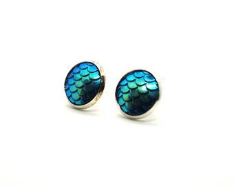 Sparkling blue/green earrings