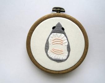 Fierce Mini Shark Embroidery