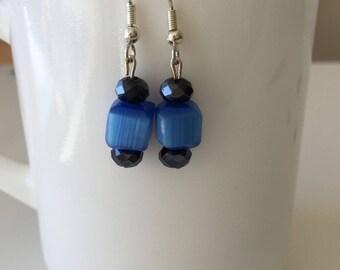 Ghana glass beads earrings