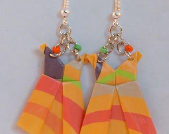 Origami dress earrings
