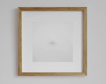 Water Reflection Print, Japanese Minimalism, Zen Photo, Square photo, Black and White Photo, Minimalist Art