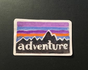 Large Watercolor Adventure Sticker