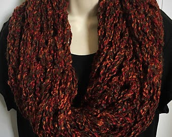 Hand Knit Double Loop Infinity Scarves 11-15