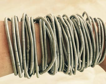 Handmade African Traditional Silver Bangles