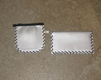 all wallet checkbook grey/black
