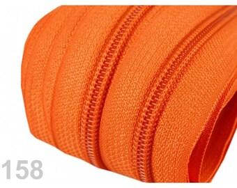 25 M orange zipper mesh 5 mm spiral