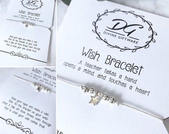 Teacher Wish Bracelet Gift Thank You