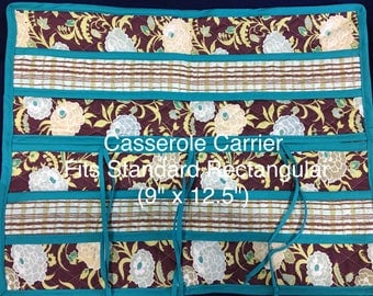 """ONE-OF-A-KIND! Casserole Carrier, 9""""x12"""", One of a Kind! Beautiful, Fancy and Functional, Sturdy Carrying Handles"""