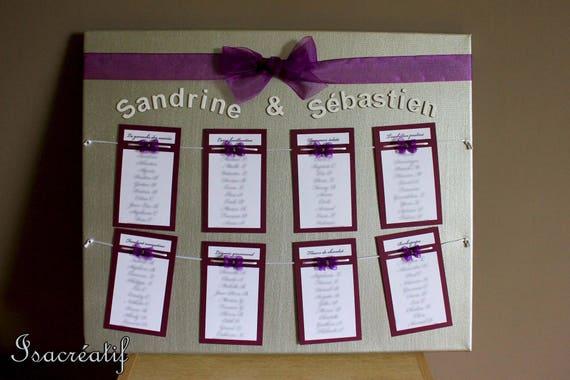 articles similaires plan de table pour mariage violet et. Black Bedroom Furniture Sets. Home Design Ideas