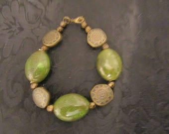 Green & Bronze Bracelet