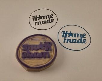 handmade stamp round home made