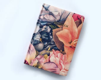 Flower diary A5 | flower journal | cute notebooks | flowers notebook | girly notebook | cute journal | a5 travel notebook | floral diary