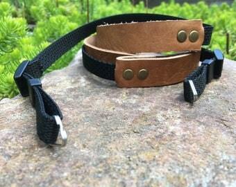 Adjustable Leather Camera Strap - Minimal - Personalized