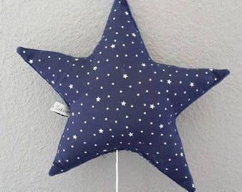 Mobile musical shape baby room decor star starry night blue