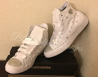 Heartbreaker Custom High Top Bling Converse