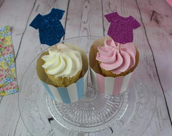 Baby Vest Cup Cake Topper