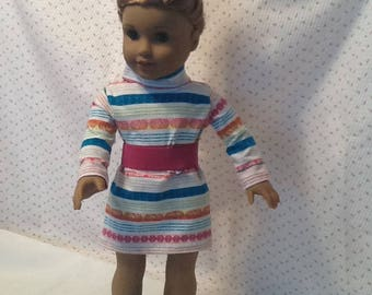 Striped Tunic Dress with Boots