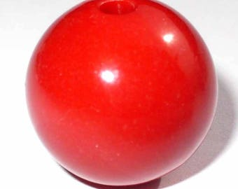 1 red 12mm round Pearl AR216Rg