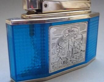 Vintage Soviet USSR Collectible Petrol Table Lighter RIGA 1975 NEW Original box