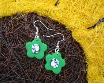 FLORAL MAXI GREEN FLOWER COLLECTION EARRINGS