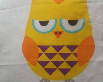 1 piece of OWL fabric linen and cotton