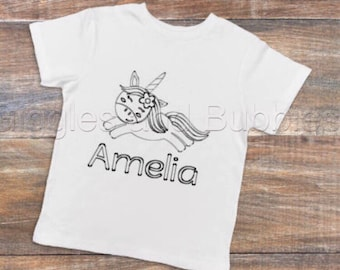 Colour me in t-shirt personalised custom design it your self tshirt