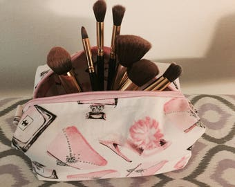 Pretty in pink boxy pouch
