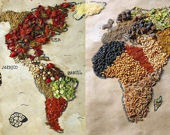 ORIGINAL design, durable and WASHABLE PLACEMAT - riches of the world 7 - classic.