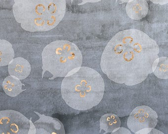 PLACEMAT DESIGN AESTHETIC, WASHABLE and durable - gold jellyfishes.