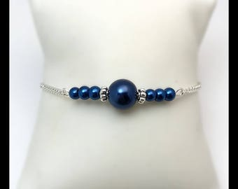 "Bracelet ""Blue"" and glass beads"