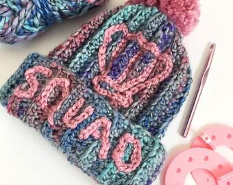 Crochet Mermaid Shell Squad Hat PDF Pattern