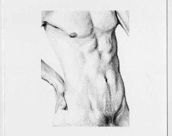 Small drawing - Detail of a body