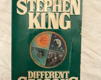 Stephen King, 'Different Seasons', Green cover, paperback, 1st edition 1st printing