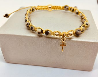 Beaded jasp bracelet