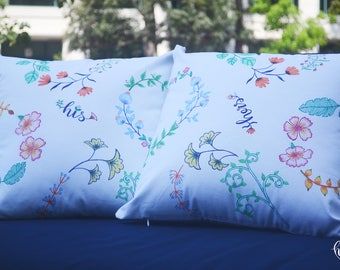 Heartily Ever After Decorative His & Hers Pillows