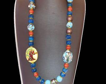 Blue Agate Necklace