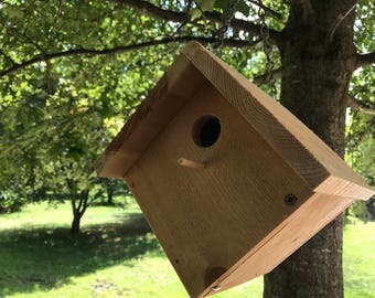 Bird house Rough Sawn Cedar