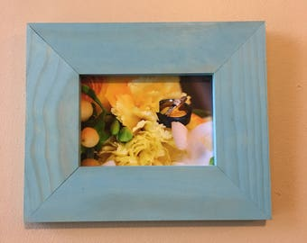 5x7 Stained Pine Picture Frame