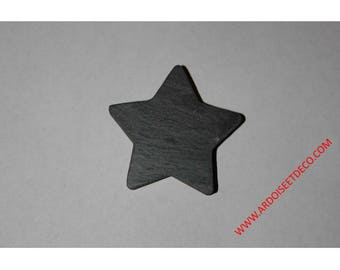 Star shaped magnet made of natural slate