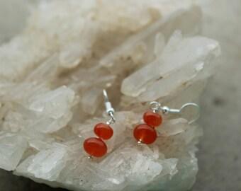 Earrings in carnelian, vitality