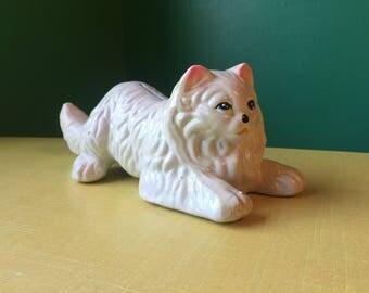Ceramic, White Cat Bank