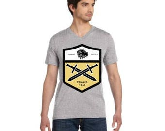 Faith T-shirt For Men Christian Bible Verse Tee Shield of God