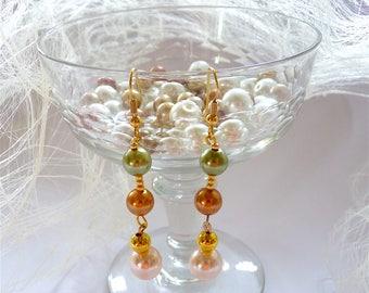 Pearl Earrings, Bridal Pearl Earrings, Bride Earrings, Wedding Jewelry, Boho Earrings, Bridesmaids Gifts Earrings