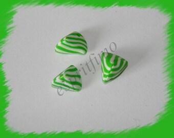 """Green Apple humbug"" charm in polymer clay"