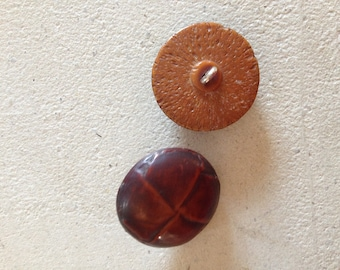 Pair of Brown buttons