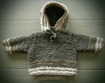 Handmade hooded sweater