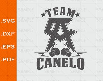 Team Canelo, Alvarez, SVG, Box, DxF,  EPS,  PDF, Vector, Silhouette Studio, clipart, scal, Design for T-shirts and Decals
